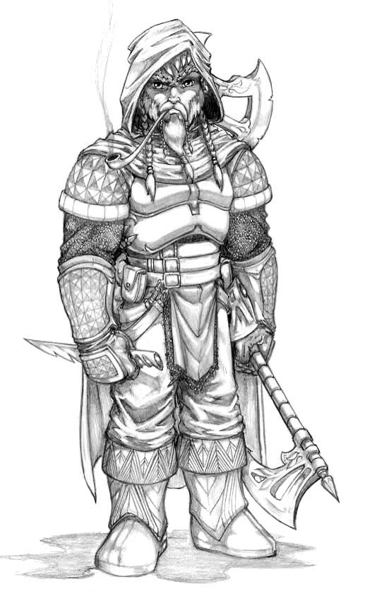 gimli with cloak and weapon artwork by ro - Hobbit Dwarves Coloring Pages